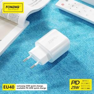 EU40 PD 25W Quick Charger (EU plug)