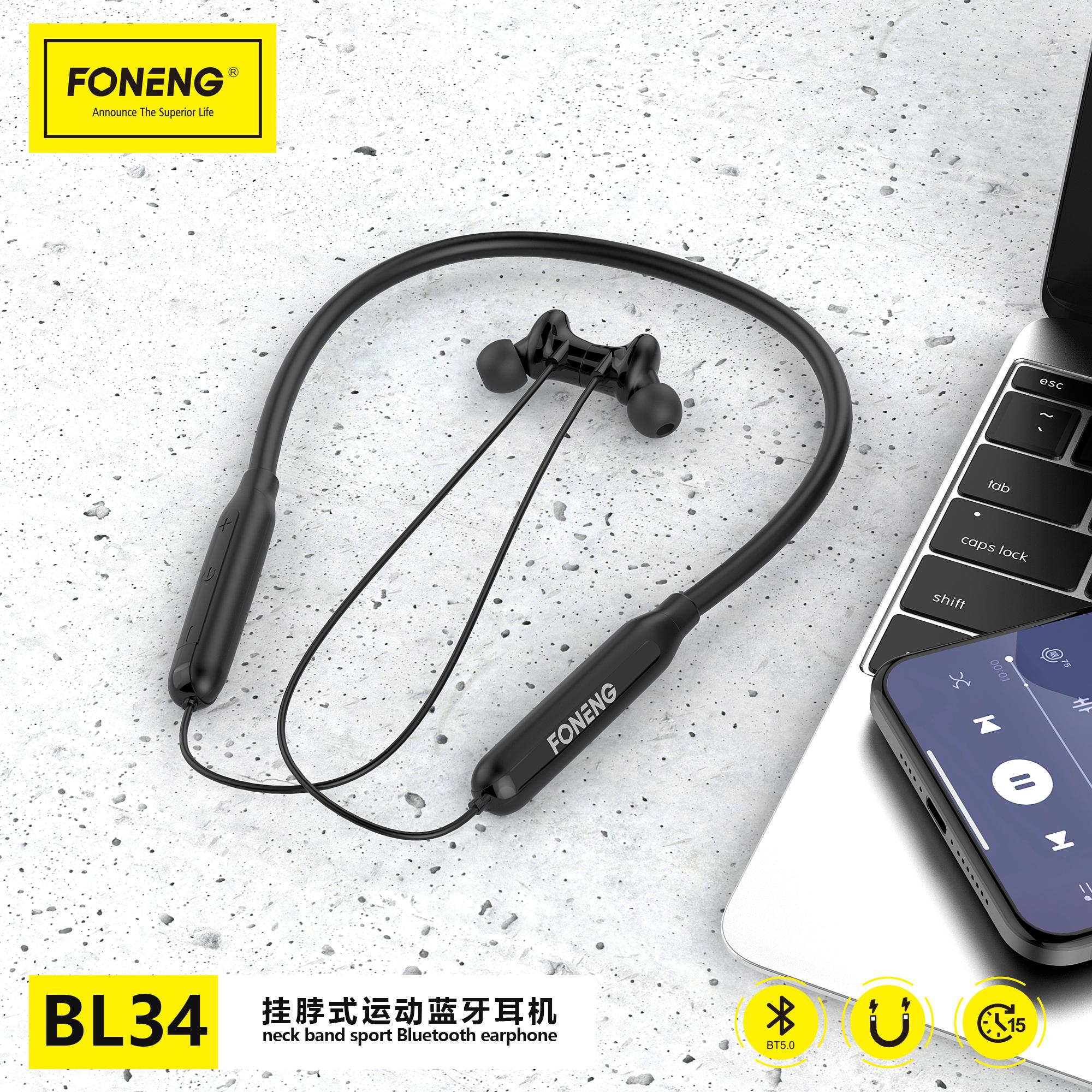 BL34 Neckband Bluetooth Earphon