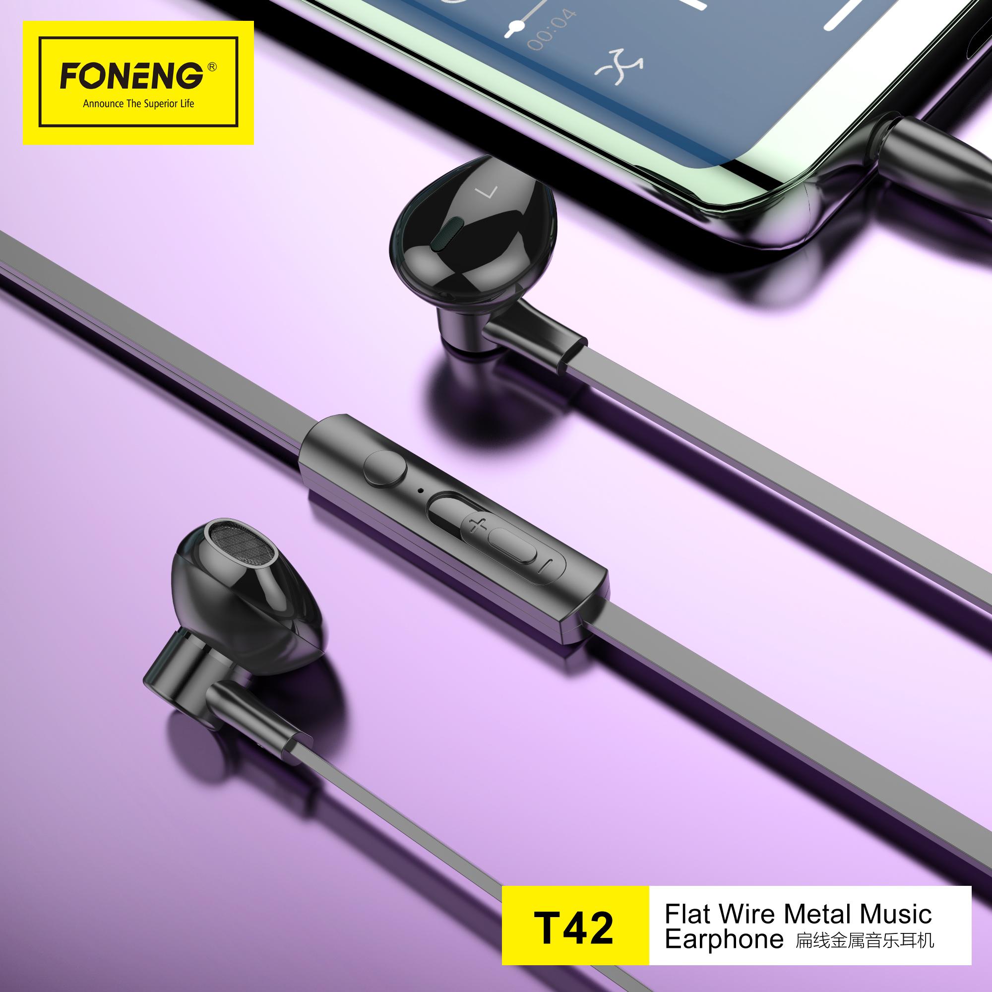 T42 Half In-ear Metal Earphone (3.5mm)